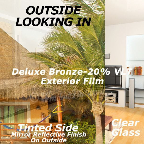 Deluxe Natural Exterior Window Tinting Film  VLT Windowtintcom - Exterior window tint for homes
