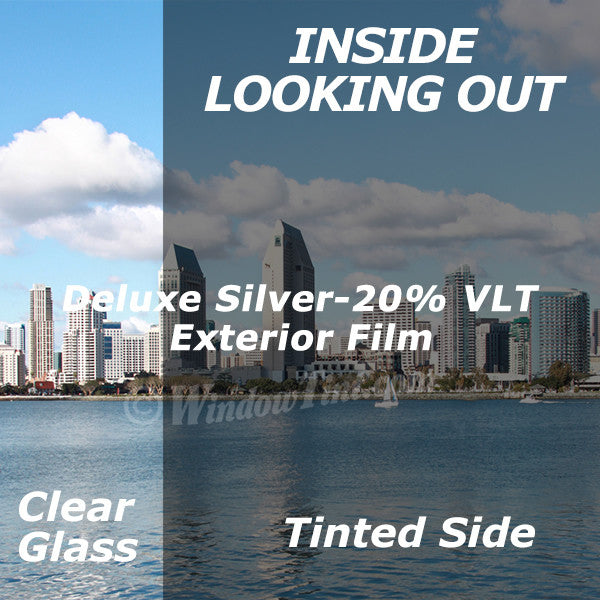 Silver Exterior Window Tinting Film