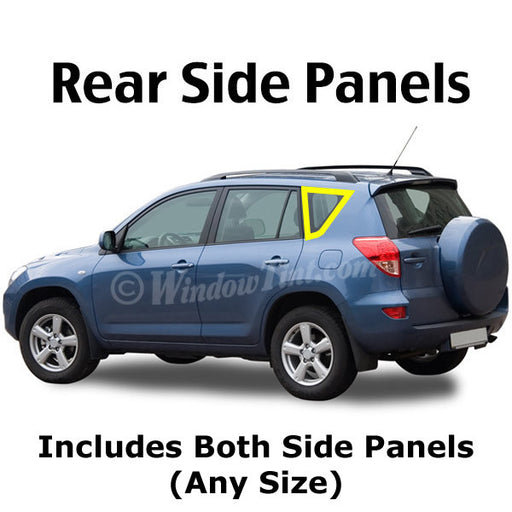 SUV Rear Side Panels window tinitng kit