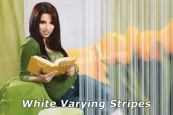 White Varying Stripes