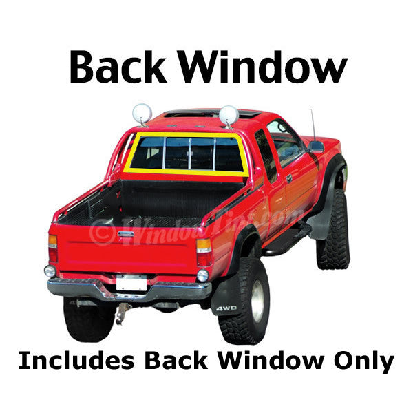 Extended Cab Truck back window tinting kit