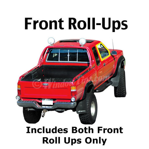 Extended Cab Truck front roll ups window tinting kit