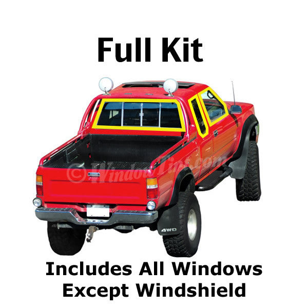 Extended Cab Truck window tinting kit