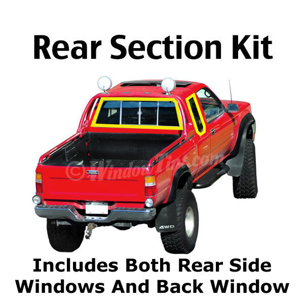 Extended Cab Truck rear section window tinting kit