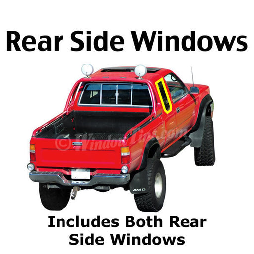 Extended Cab Truck rear side window tinting kit