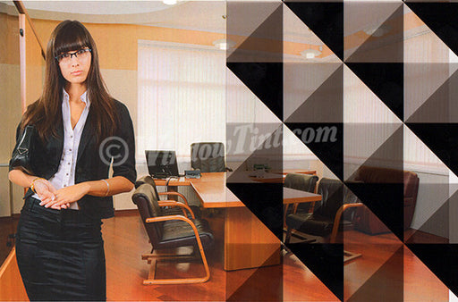 Black Checker Triangle Window Tinting Film