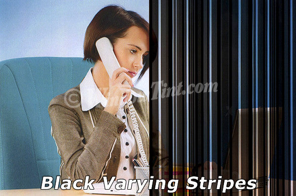Black Varying Stripes