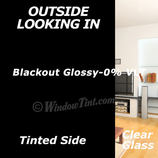 Blackout Glossy Window Tinting Film