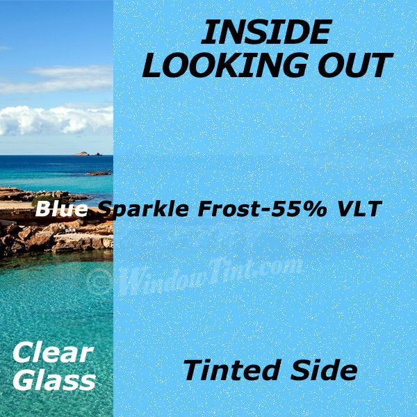 Blue Sparkle Window Tinting Film