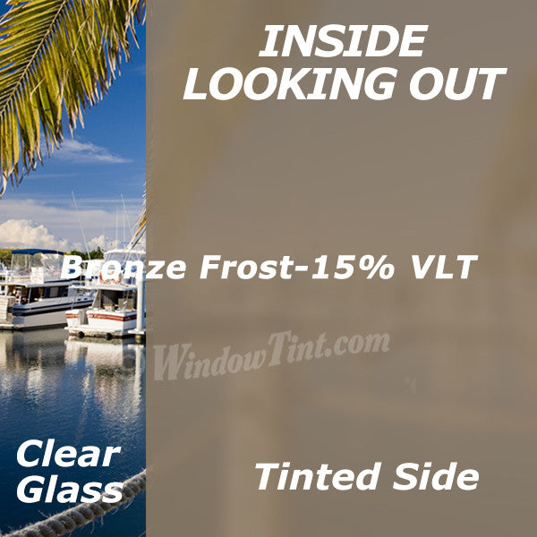 Bronze Frost Privacy Window Tinting Film