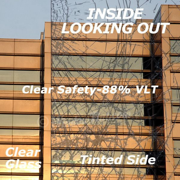 2 Mil Clear Safety Window Tinting Film