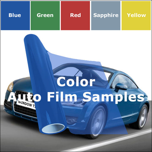 Color auto window tinting films