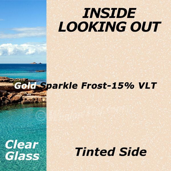 Gold Sparkle Window Tinting Film