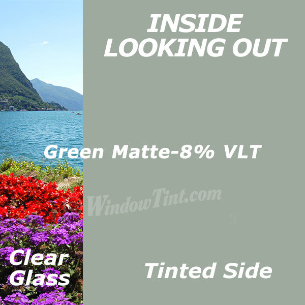 Green Matte Window Tinting Film