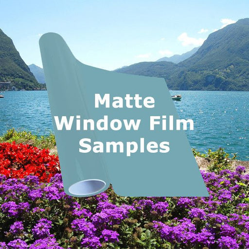Matte window tinting films
