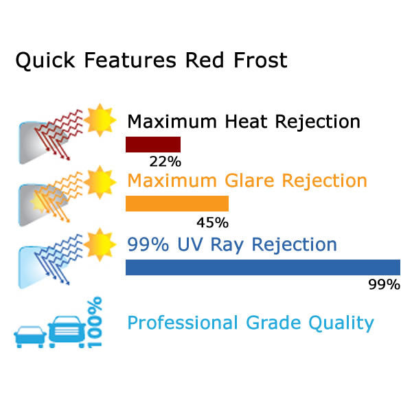 Red Frost Window Tinting Film