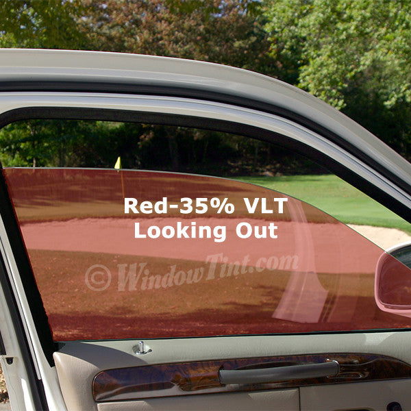Red Auto Window Tinting Film