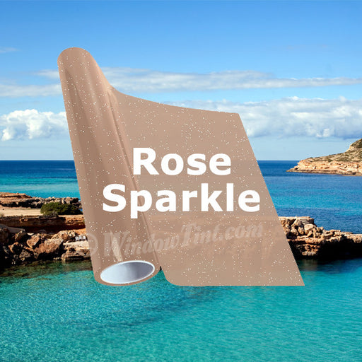 Rose Sparkle Window Tinting Film