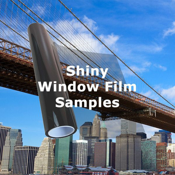 Shiny window tinting films