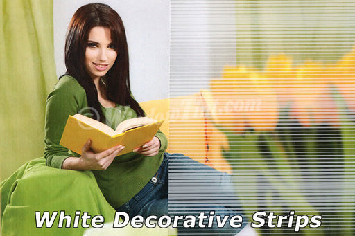 White Decorative Stripes