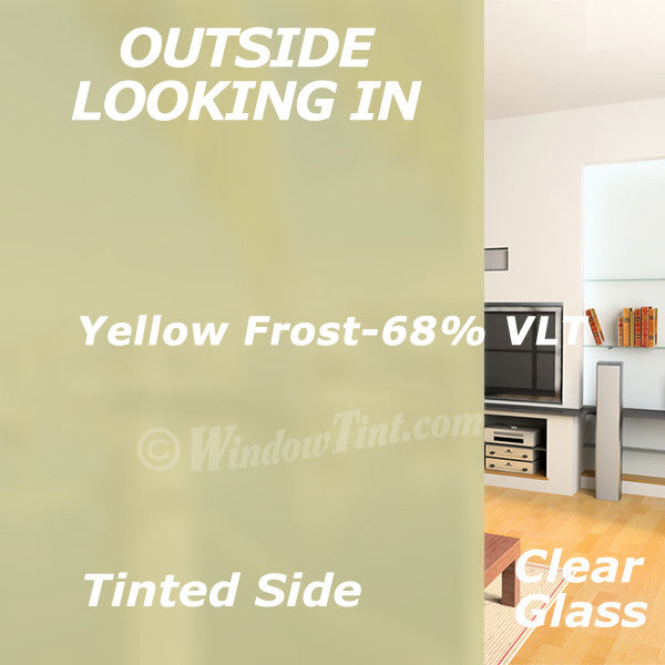 Yellow Frost Window Tinting Film