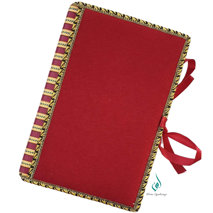 Sweet Maroon Quran Cover with Tajweed Mus-haf