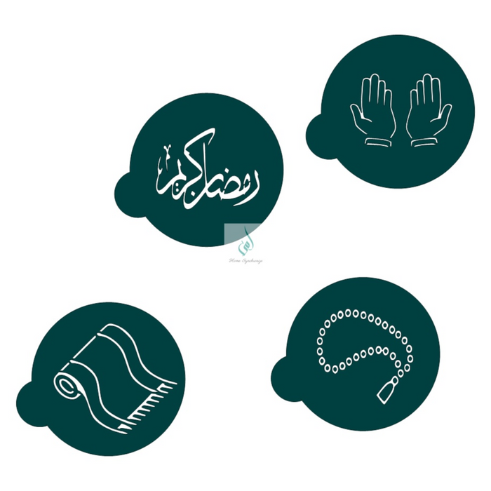 Ramadan cookie stencil set
