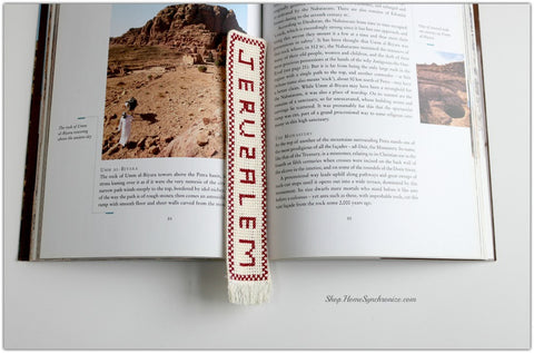 Embroidered Bookmark-Jerusalem