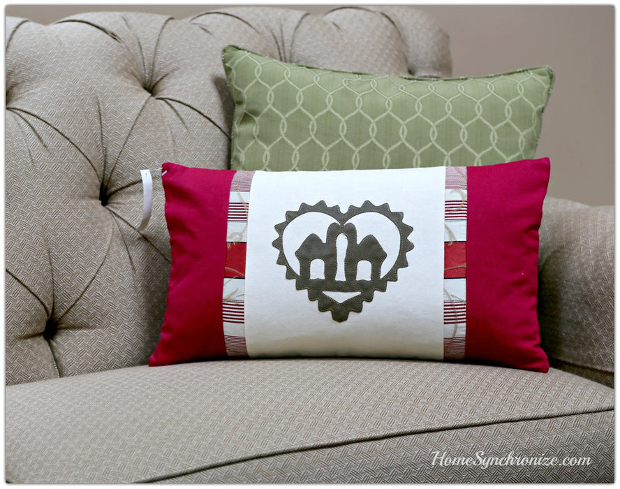 Arabic Decorative Pillow, Throw Pillow Cover, Camel Hearts, Middle Eastern Pillows, 23 x 13""