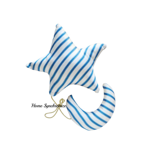 Crescent and Star Hanging Pillow Set
