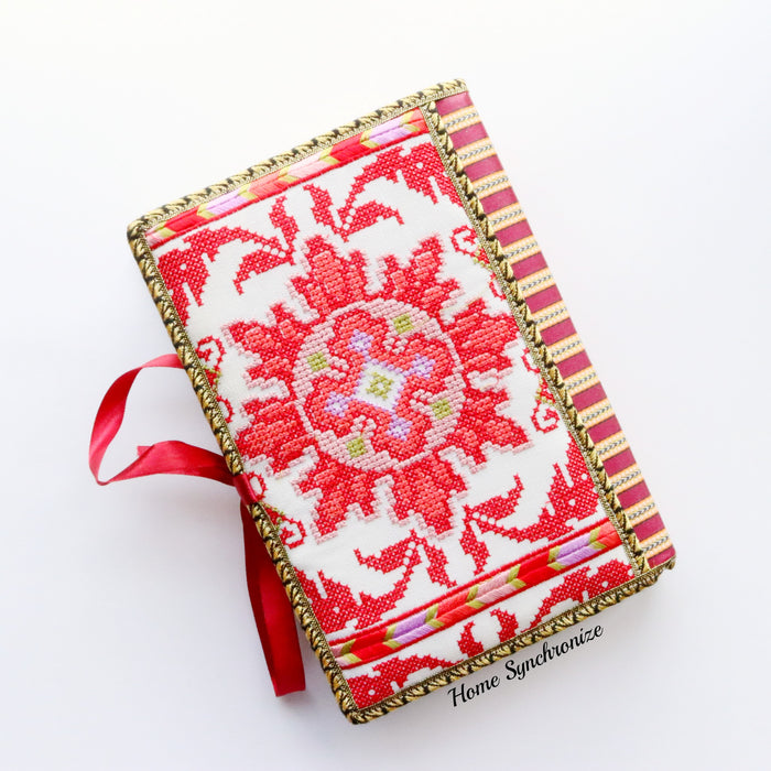 Suzani Pink Quran Cover with Tajweed Mus-haf