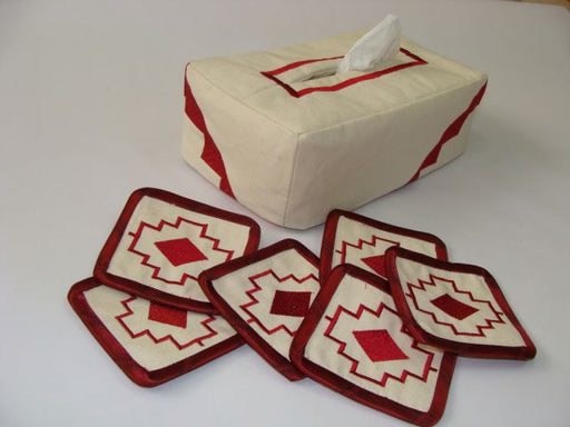 Tissue Box & Coasters