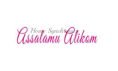 Assalamu Alikom-Reusable stencil-Islamic Calligraphy-English Text