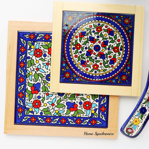 Armenian Ceramic  Large Tile Hot Pad