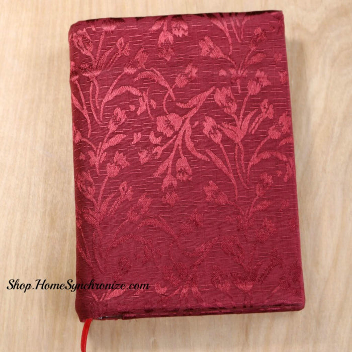 The Holy Quran w/Palestinian Embroidery Fabric Cover [Maroon]