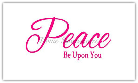Reusable stencil-Islamic Calligraphy-English Text-Peace be with you