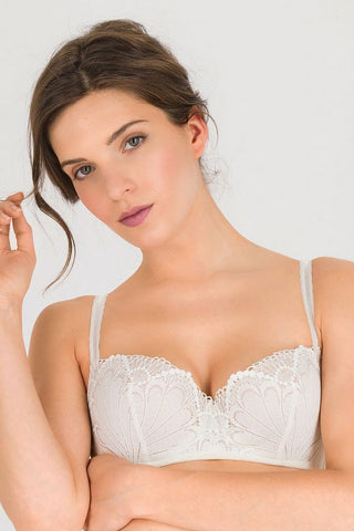 Бюстгальтер балконет push-up W031O Refined Glamour ivory