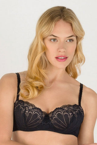 Бюстгальтер балконет push-up W031O Refined Glamour black