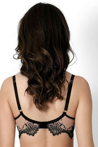 Бюстгальтер push-up с вышивкой Morgana B312 nude/black