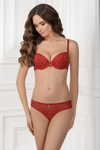 Бюстгальтер push-up с кружевом 1138/84 Inet lively red
