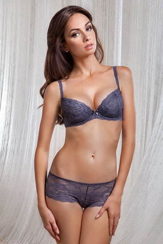 Бюстгальтер push-up балконет с элементами Swarovski 1201/14 Muse gray