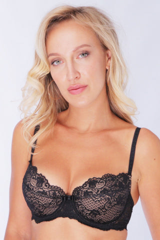 Бюстгальтер балконет push-up 322.02 Lace Karina black/beige
