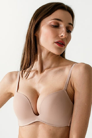 Бюстгальтер с тройным push-up L1515A beige