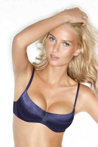 Бюстгальтер балконет с гелевым push-up 8210 dark blue