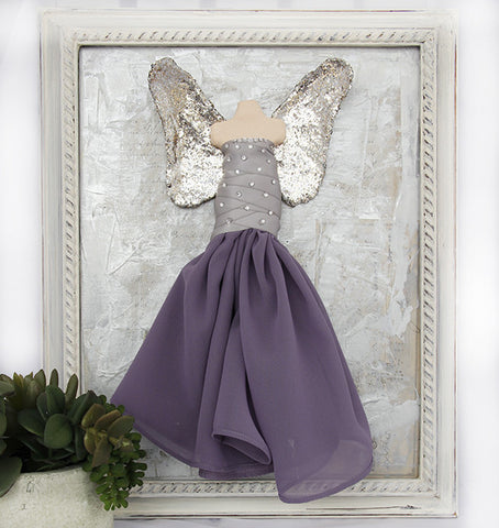 3D Angel - Purple and Silver