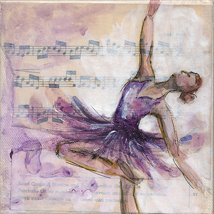 Ballerina #2 6x6 Purple