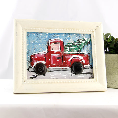 Red Truck Mixed Media