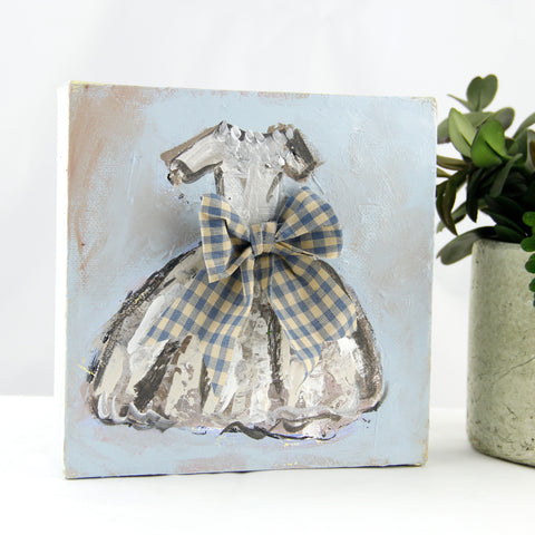 Blue Checkered Dress - Always be kind 6x6