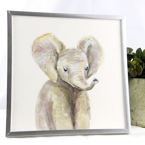 Watercolor Elephant 8x8