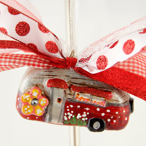 3D Ornament -Red Airstream